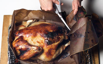 Turkey in a bag with Molly's Passover vegetable stuffing