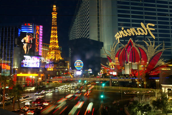 Las Vegas, Nevada, shown in this 2004 photograph, attracts millions of visitors every year to casinos and entertainment venues. It also attracts those who love to hate the city. (Genaro Molina/Los Angeles Times/MCT) ** HOY OUT, TCN OUT **
