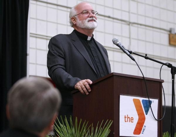 Father Greg Boyle was the keynote speaker at the annual YMCA of the Foothills annual Prayer Breakfast on Nov. 7; 2013. Father Boyle is the founder of Homeboy Industries.