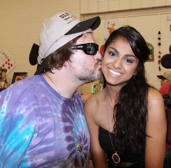 Jack Black and Meghna Verna, who is on dialysis and waiting for a kidney transplant.