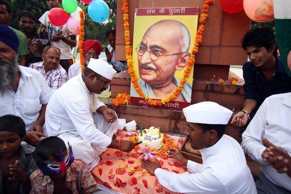 Celebration of the 144th anniversary of Mahatma Gandhi's birth.