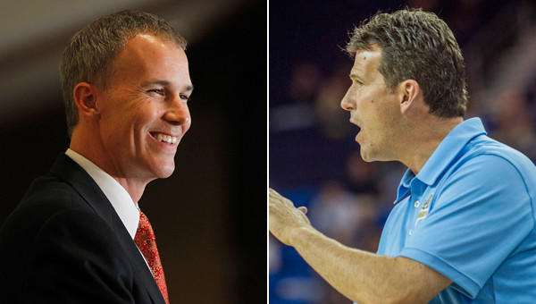 USC Coach Andy Enfield, left, and UCLA Coach Steve Alford begin a new chapter for their respective programs Friday when they make their coaching debuts.