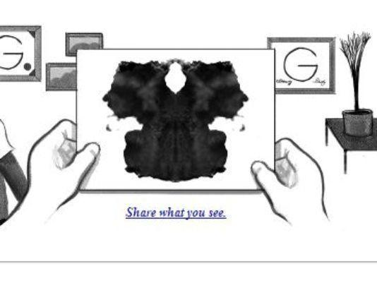 Friday's Google Doodle is an interactive inkblot test in honor of its creator, Hermann Rorschach.