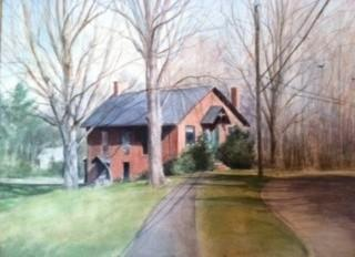 The West Hartford Art League is asking the public to share memories, pictures, newspaper clippings or anything else about the league's history to help celebrate its 80th anniversary in 2014. This is a painting of the Art League's school house building.