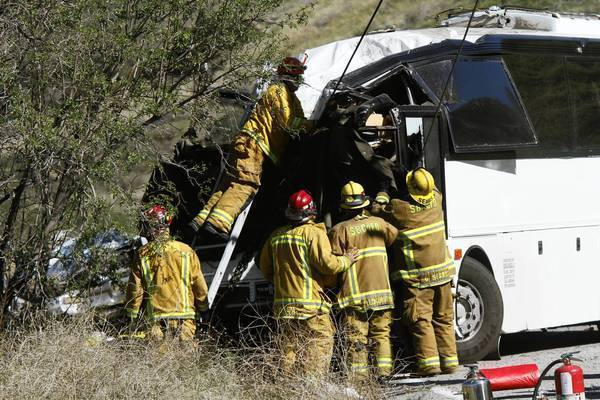 The tour bus crash in February on Highway 38 killed eight people.