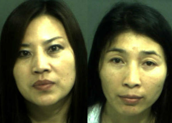 Jian Zhang, left, and another masseuse, He Ping Su, were arrested at Happy Panda after an MBI investigation.