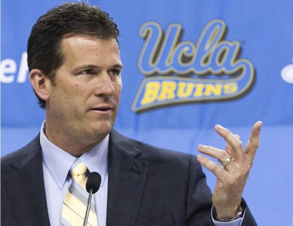 UCLA Coach Steve Alford speaks during a news conference on April 2.