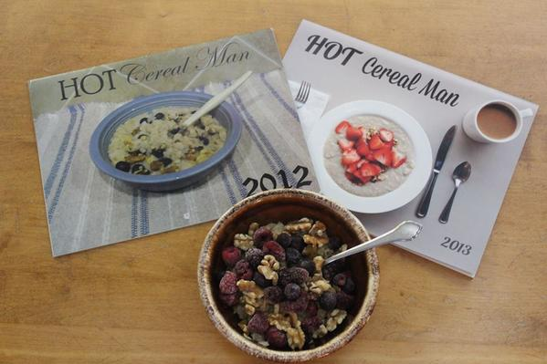 Bill Ehrlich is three years into making a calendar all based around ... oatmeal.