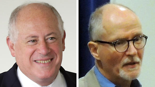 Gov. Pat Quinn, left, and Paul Vallas, both in 2013.