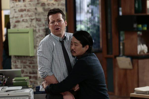 "Sean Hayes and Bobby Lee in ""Sean Saves the World."""