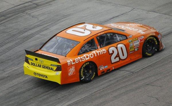Sprint Cup Series driver Matt Kenseth drives at the NASCAR Sprint Cup AAA Texas 500 in Fort Worth on Sunday.