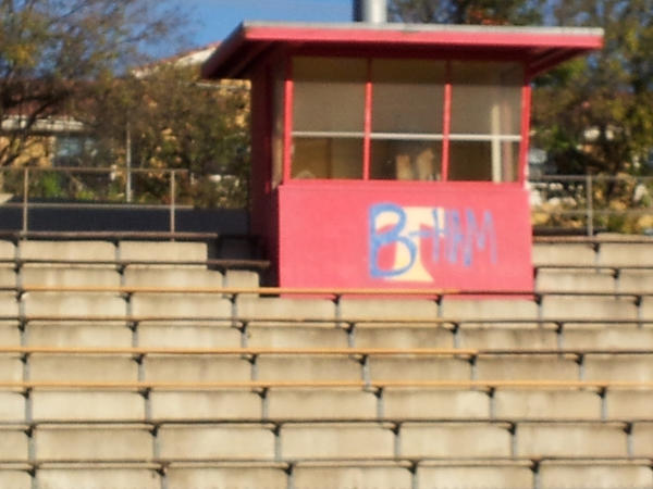 The Taft High stadium was vandalized between midnight and 5 a.m. Friday, school officials believe.