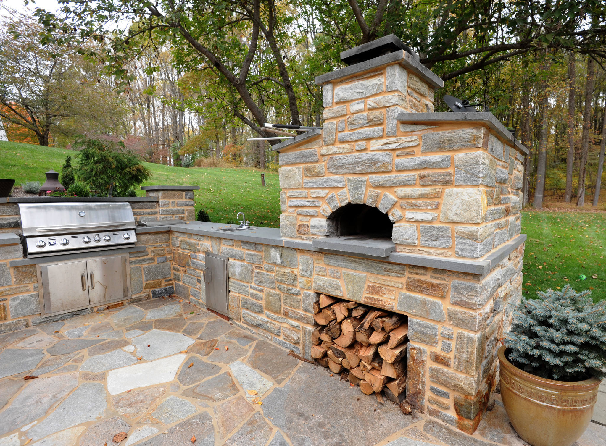 butler stone fireplace and patio pictures baltimore sun