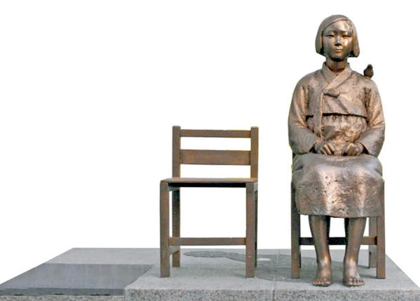 The Korean Sister City Assn. plans to install a $30,000 statue that weighs 1100 pounds in Central Park next month. The statue is a memorial to the Korean and other women taken as sex slaves by the Japanese Army during WWII.