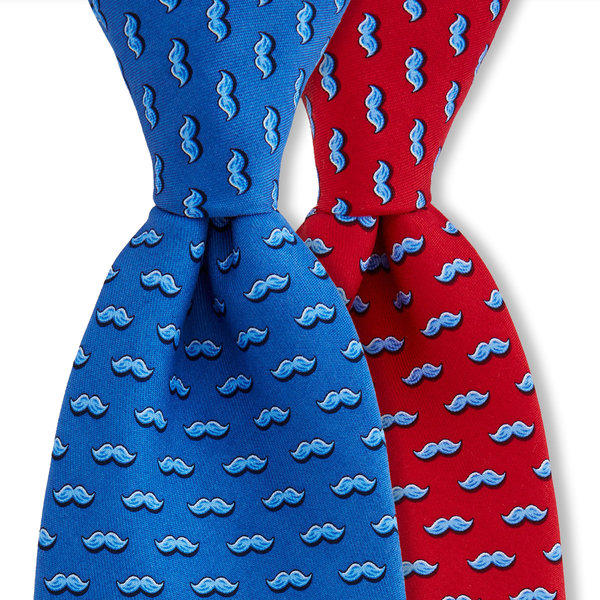 Vineyard Vines has announced that 100% of proceeds from sales of its $75 mustache-motif neckties will go to the company's Movember team, which is raising money to combat prostate and testicular cancers.