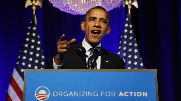 President Barack Obama delivers remarks on the Affordable Care Act this month to supporters in Washington.