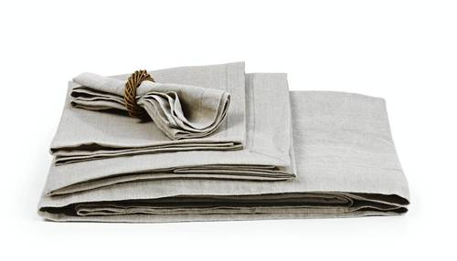 Libeco Home Belgian linen Flanders napkins in natural flax. $26 at Didriks.com.