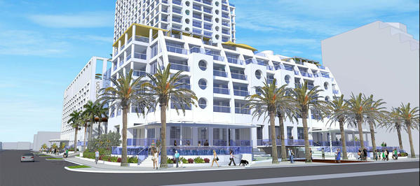 A preliminary rendering of the Conrad Hotel, formerly known as the Trump International Hotel, on Fort Lauderdale beach by the Garcia Stromberg architectural firm.