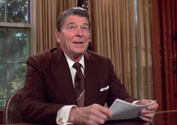 The last major immigration reform in the U.S. took place in 1986, during the Reagan administration. Above, President Reagan is seen before delivering a televised address in 1985.