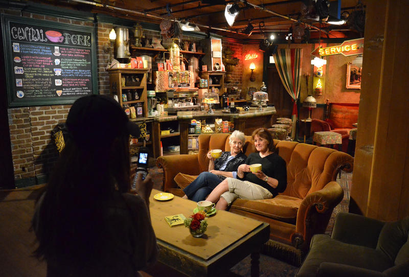 "The Central Perk set was often part of the TV show ""Friends."" It's on the Warner Bros. tour. (Christopher Reynolds / Los Angeles Times)"