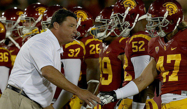 USC Interim Coach Ed Orgeron does not have fond memories of his last visit to Cal a decade ago.