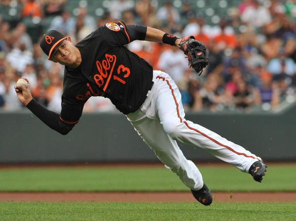 Orioles third baseman Manny Machado emerged as one of baseball's top defensive players last season.