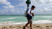 Google Trekkers mapping Florida beache
