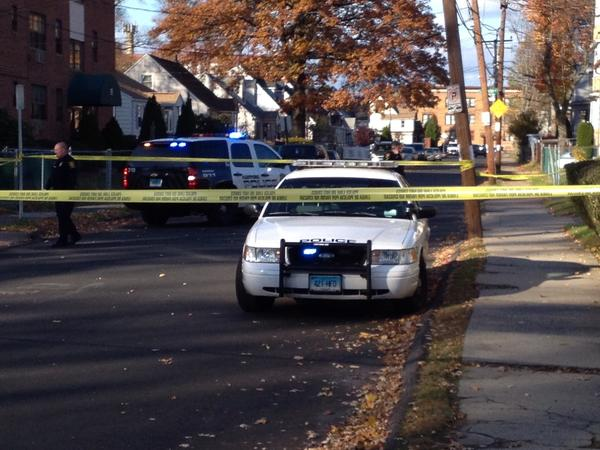 Police were on the scene on Bulkeley Avenue in Hartford, where a woman was shot multiple times.