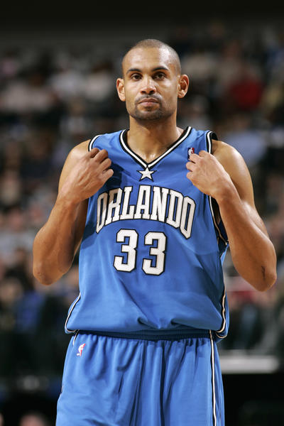 Grant Hill during a game for the Magic in 2005.