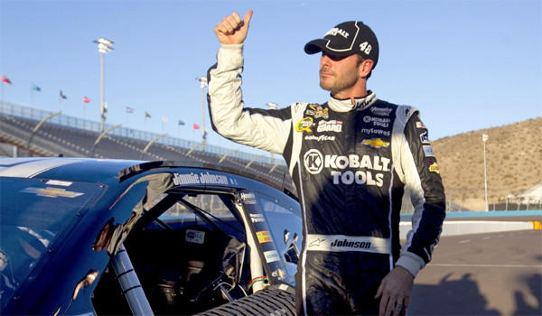 The 38-year-old Jimmy Johnson holds a seven point lead in the NASCAR Sprint Cup standings over 41-year-old Matt Kenseth going into the AdvoCare 500 at Phoenix International Raceway, the second to last race of the year.