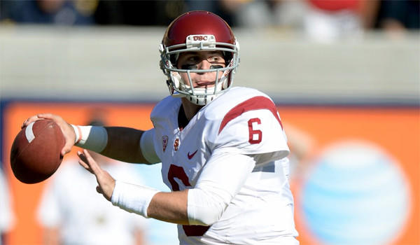 USC quarterback Cody Kessler completed 14 of 17 passes for 170 yards and two touchdowns in the Trojans' 62-28 win over California on Saturday.