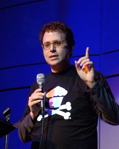 Former journalist Stephen Glass, shown speaking at the Skirball Cultural Center in 2007, faced skepticism from California Supreme Court justices Wednesday about whether he should be able to practice law. In the 1990s, he was found to have fabricated dozens of articles for national magazines.