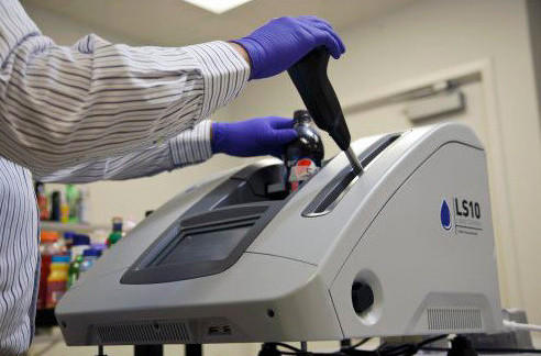 London's Heathrow Airport began installing a liquid-scanning device for use starting in January.