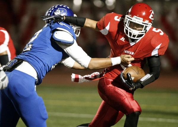 Burbank High and Burroughs football will begin the CIF Southern Section Southeast Division playoffs on Friday. (Raul Roa Staff Photographer)