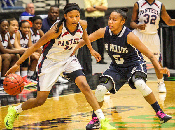 Dwyer's Keyanna Harris, left, is one reason the Panthers are a state contender.