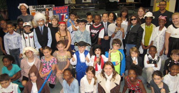 History came alive at Virginia Shuman Young last week when students dressed up and acted as famous Americans.