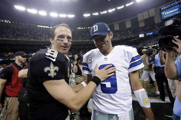 Drew Brees, Tony Romo