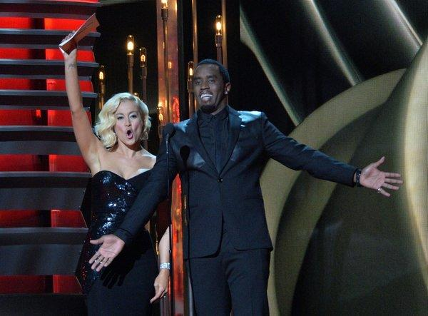 Kellie Pickler and Sean Combs at CMA Awards