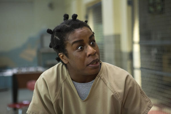 "Uzo Aduba in the Netflix series, ""Orange Is the New Black."""