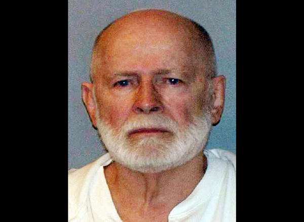 "James ""Whitey"" Bulger in his booking photo in 2011."