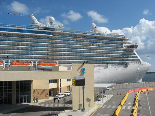 Royal Princess docked at terminal 2 at Port Everglades on Oct. 29, 2013 before departing on a 5-day maiden Caribbean cruise.