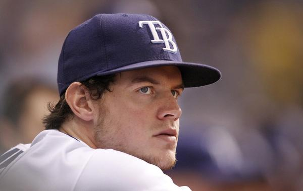 Wil Myers of the Tampa Bay Rays watches from the dugout during a MLB game against the Baltimore Orioles at Tropicana Field in St. Petersburg, Florida, on Monday, September 23, 2013. (James Borchuck/Tampa Bay Times/MCT)
