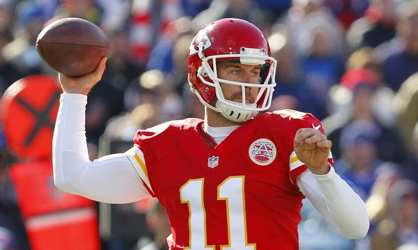 Kansas City quarterback Alex Smith will look to keep the Chiefs undefeated on the season when they travel to Denver to take on the Broncos in an AFC West showdown on Sunday.
