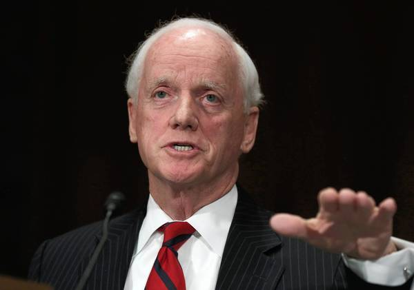 Frank Keating, a Republican and former Oklahoma governor, invoked the memory of former President Reagan and his support for the 1986 immigration overhaul in urging passage of the current bill in an L.A. Times op-ed piece.