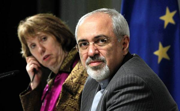 """Iranian Foreign Minister Mohammad Javad Zarif, seen Sunday with European Union Foreign Policy Chief Catherine Ashton, said, """"No amount of spinning can change what happened within the [six powers] in Geneva from 6 p.m. Thursday to 5:45 Saturday."""""""