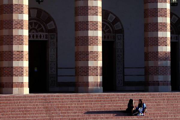 The Student Activities Center at UCLA. A new study shows Latinos lagging behind other Californians in rates of college completion. Campus clubs that provide mentors have helped some through rough times.
