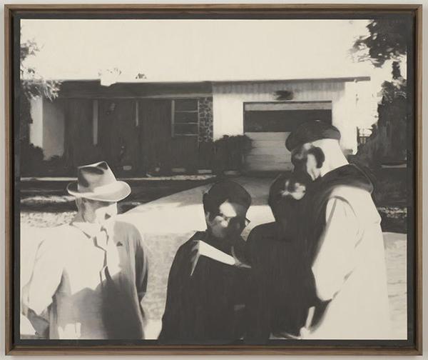 """Martin Mull's """"Witnesses,"""" 2013, oil on linen."""
