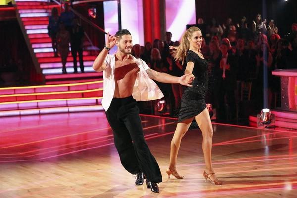 Valentin Chmerkovskiy and Elizabeth Berkley Lauren were the latest couple to be eliminated.