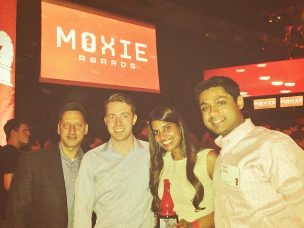 Shradha Agarwal, 28, after being named Tech Woman of the Year at Chicago's annual Moxie Awards ceremony.