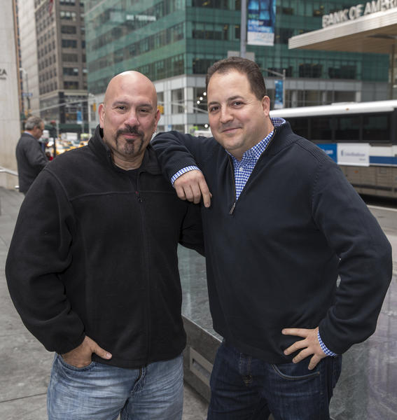 "Tony Luke Jr. (left) will judge and Chef Josh Capon will host the Spike TV series ""Frankenfood."""